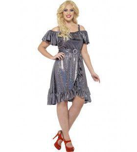 Flitsende Disco Darling Vrouw Kostuum