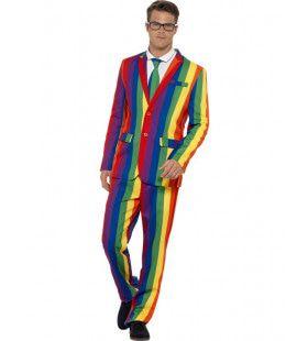 Alle Kleuren Van De Regenboog Man Kostuum