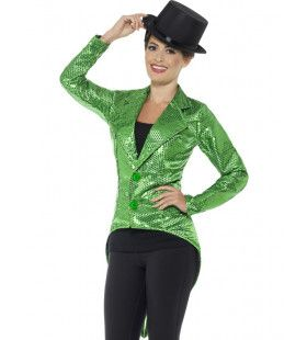 Honderden Groene Lovertjes Jacquet Vrouw Kostuum