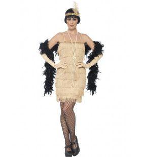 Charleston Cocktail Queen Kort Vrouw Kostuum
