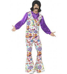 Alles Is Liefde Hippie Man Kostuum