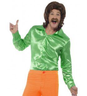 Glanzend Groen Jaren 60 Shirt Man