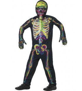 Rontgen Glow In The Dark Skelet Jongen Kostuum