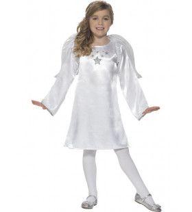 Zilveren Sterren Engel Meisje Kostuum