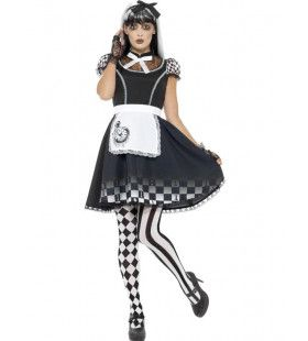 Gotische Alice In Wonderland Vrouw Kostuum
