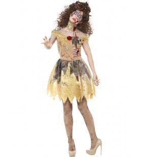 Gevallen Gouden Zombie Fee Vrouw Kostuum
