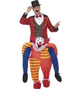 De Clown Draagt De Show Circusdirecteur Man Kostuum