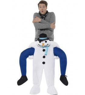 Op De Rug Van Een Sneeuwpop Man Kostuum
