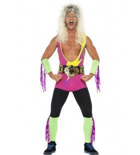 Hulk Hogan Retro Wrestler Wwe Man Kostuum