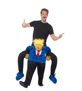 Op De Schouders Van President Trump Kostuum