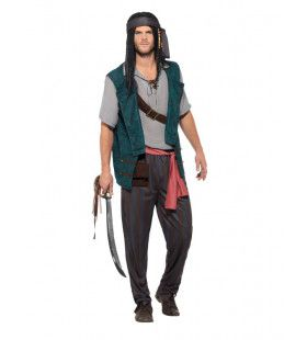 Sinister Scheepsjongen Piraten Schip Man Kostuum