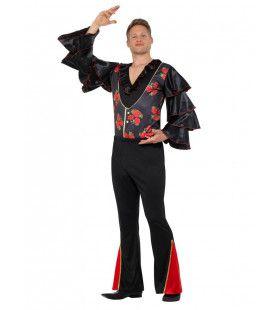 Bloemrijk Flamenco Artiest Paco Man Kostuum
