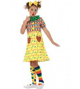 Mallotig Meisjes Clown Kostuum