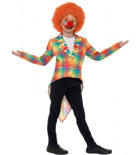 Pastel Schotse Ruit Circus Clown Kostuum