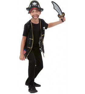 Driedelige Set Woeste Kaper Piraat Kind