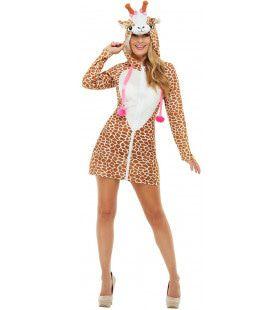Sexy Giraffe Lange Benen Vrouw Kostuum