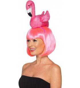 Knalroze Flamingo Haarband
