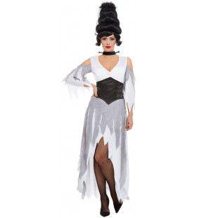 Gotische Halloween Bruid Vrouw Kostuum