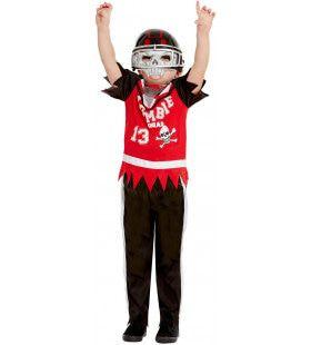 Wrede Tackle American Football Zombie Kind Jongen Kostuum