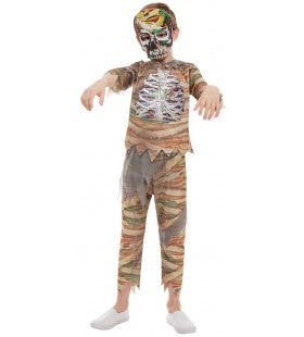 Mummie Zombie Snoeihete Piramide Kind Kostuum
