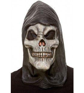 Gruwelijk Grijnzende Schedel Masker Met Kap