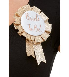 Bride To Be Broche Glitter Goud