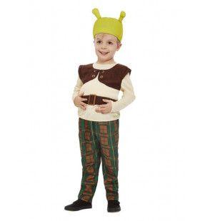 Shrek Het Kleine Groene Moerasmonster Kind Kind Kostuum