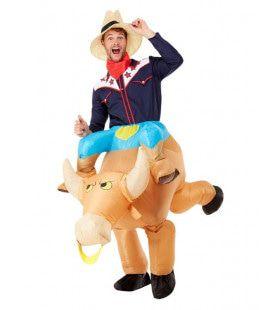 Opblaasbaar Kostuum Rodeo Rijder Man