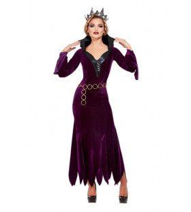 Koninging Fluwela Vrouw Kostuum