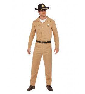 80s Zandkleurige Sheriff Man Kostuum