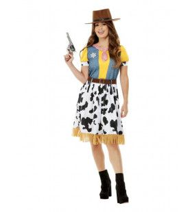 Tekenfilmachtige Cowgirl Vrouw Kostuum