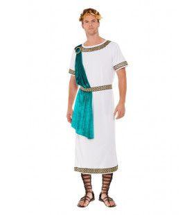 Romeinse Azuren Keizer Man Kostuum