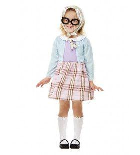 Nog Net Geen Gerimpelde Stokoude Kleine Oma Meisje Kostuum