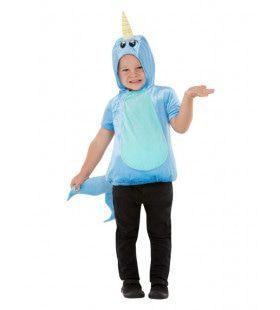 Narwal De Schattige Tandwalvis Kind Kind Kostuum