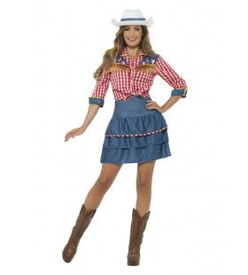 Giddy Up Rodeo Cowgirl Vrouw Kostuum