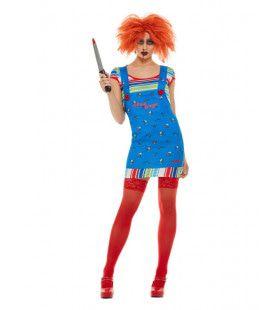 Chucky Wil Met Je Spelen Vrouw Kostuum