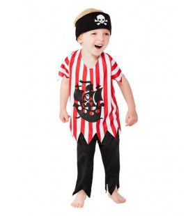 Piraat Hoog In De Mast Jongen Kostuum