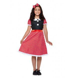 Minnie De Schattige Muis Meisje Kostuum