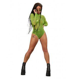 Groene Marihuana Bodysuit Vrouw Kostuum