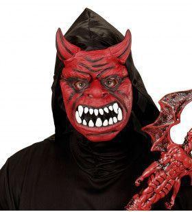 Evil Red Duivelmasker Met Kap