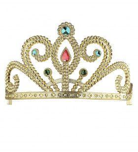 Koninklijke Prinsessenkroon Zilver Met Diamanten, Goud