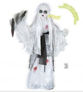 Halloween Deco Moordend Bruidje Met Mes, Bewegende Animatie