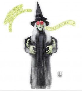 Horror-Deco Animatie Heks Met Beweging En Geluid
