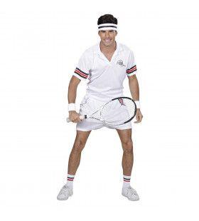 Wimbledon Tennisspeler Man Kostuum