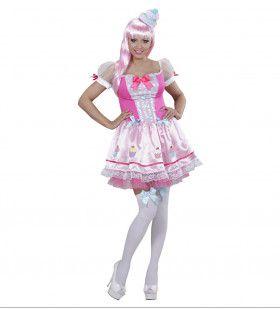 Cupcake Meisje Sweet Lady Vrouw Kostuum