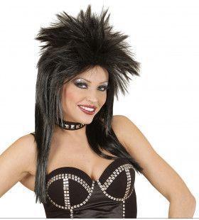 Glam-Punk Pruik, Rockster Zwart
