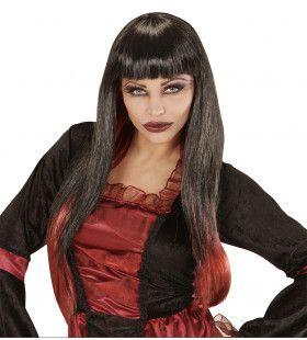 Senora Canibala Pruik, Vampierster Zwart / Bordeaux