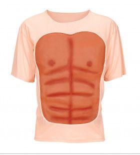 Sixpack Spieren Torso T-Shirt Man Kostuum