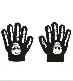 Skulls And Bones Handschoenen Botten Met Schedel, Kind