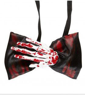 Halloween Strikje Met Skelethand